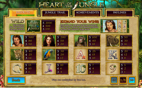 free Heart of the Jungle slot payout