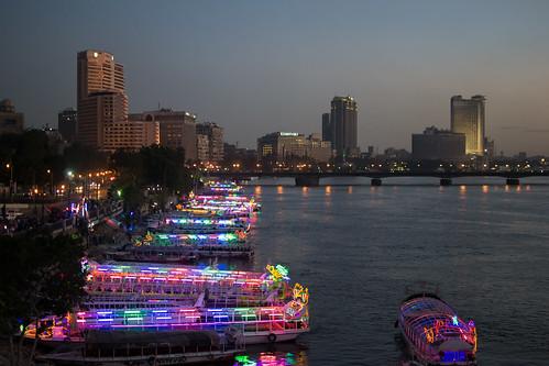 Cairo, Nile at dusk