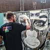 @antcarver at work at the #whitecrossstreetparty #streetart #streetartlondon #graffiti #urbanart #instagraffiti #streetstyle #streetfashion