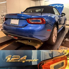 The new #Fiata in at XPEL #SanAntonio. What do you think of the new roadster from #Fiat? #124Spider. #Mazda #Miata #XPEL #XPELULTIMATE #nomorerockchips #protectyourinvestment #clearbra
