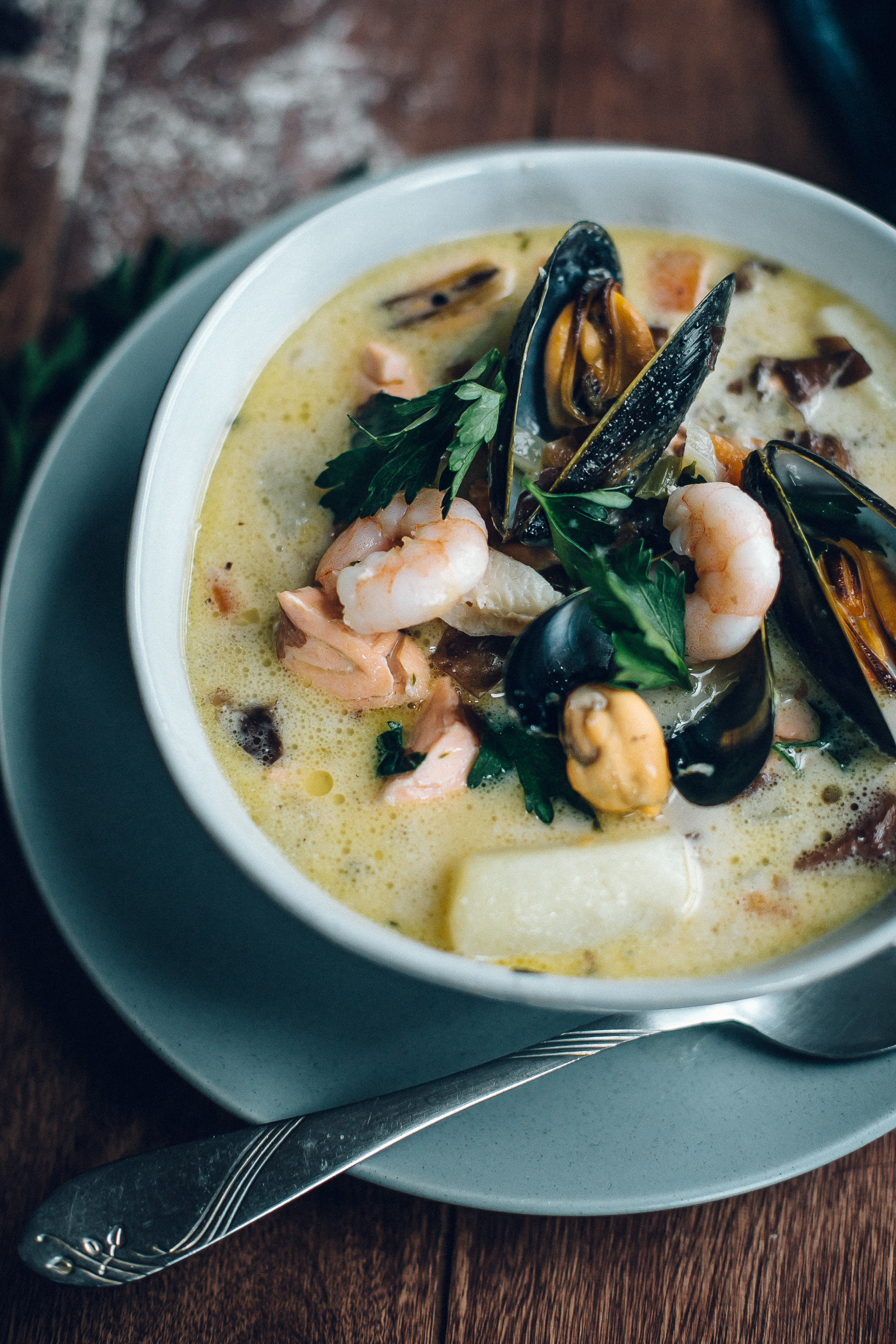 Seafood Chowder With Dillisk & Seed Brown Bread For St Patrick's Day