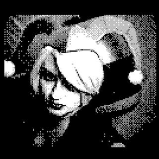 #harleyquinn #harley #batman #harleenquinzel #dccomics #bobkane #cosplay #gameboycamera #gameboyphoto #portrait #art #videogames #hammer #costume #retrocollective #retro #lens #photo #nyc #sexynerds