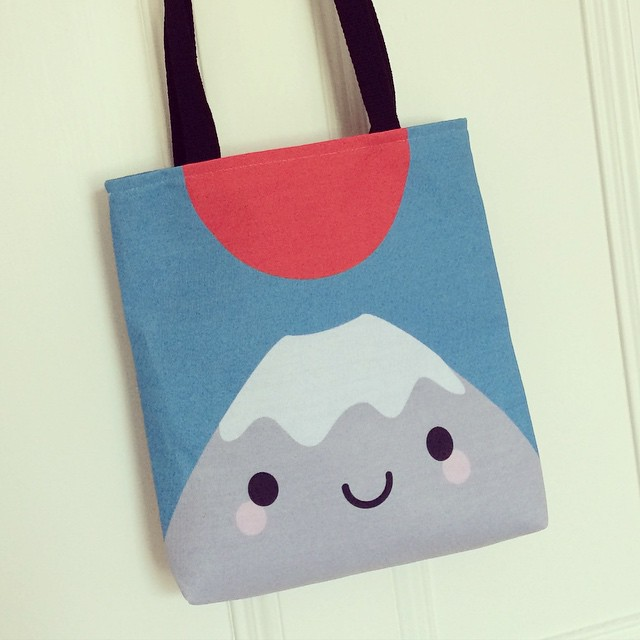 Yay! Early birthday present to myself - my Mt Fuji bag from @society6. It's amazing.