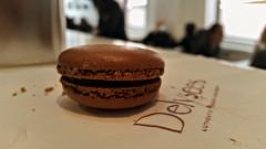 cake(0.0), icing(0.0), cookie(0.0), chocolate(0.0), baking(1.0), buttercream(1.0), sweetness(1.0), baked goods(1.0), cookies and crackers(1.0), food(1.0), macaroon(1.0), dessert(1.0), snack food(1.0),