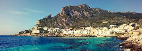 blue sea italy mountain mediterranean sicily sicilia mediterraneansea fishingvillage levanzo egadiislands