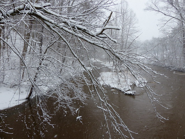 Snowy Gunpowder River at Corbett Rd.