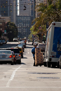 22532 Southbound Polk St. bike lane preview from Sutter to Post