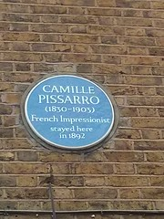 Photo of Camille Pissarro blue plaque