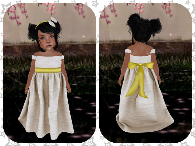 LBM Beige Flower Girl Dress