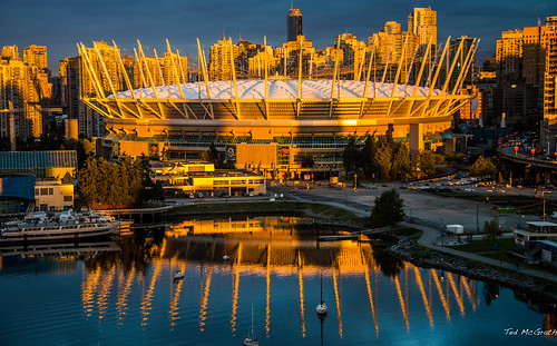 shadow reflection water vancouver sunrise fence boat nikon bc stadium dome falsecreek cropped fencing vignetting vancouverbc waterreflection bcplace 2014 bcplacestadium d600 vancouvercity eastfalsecreek tedmcgrath cans2s falsecreekeast tedsphotos nikonfx extraordinarilyimpressive d600fx