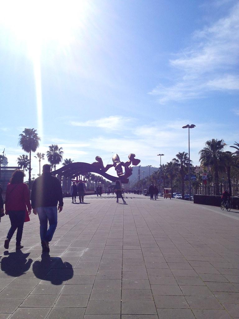 Barcelona sun