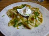 pierogis at Cafe Europa in San Francisco