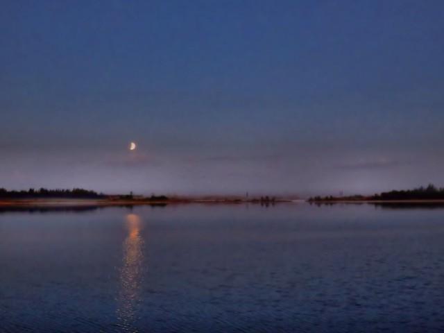 Lunar Eclipse setting HDR 20150404