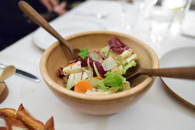 CATO CORNER CHEESE roasted carnival squash, mustard, bitter green salad
