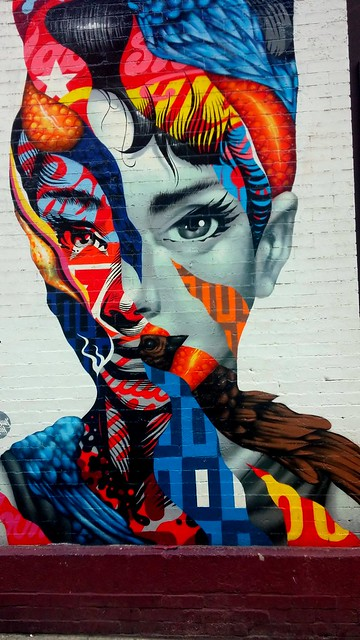 Audrey Hepburn graffiti in little Italy Manhattan
