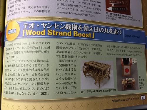 Wood Strand Beestが載った!