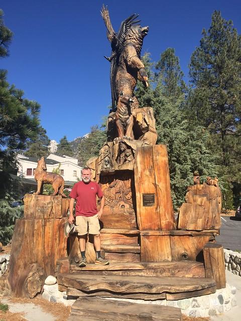 PCT.  Idyllwild town statue.