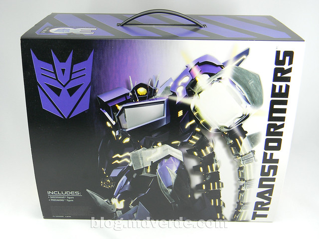 Transformers Shockwave Voyager - Generations SDCC Exclusive (Shockwave's Lab) - caja