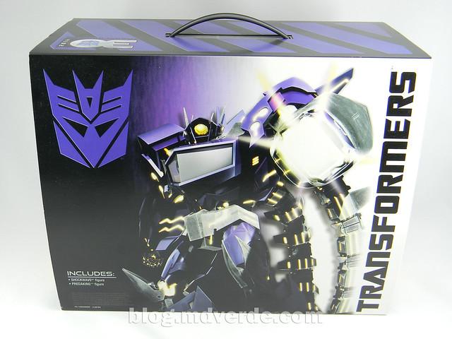 Transformers Shockwave Voyager - Generations SDCC Exclusive (Shockwave's Lab) - caja