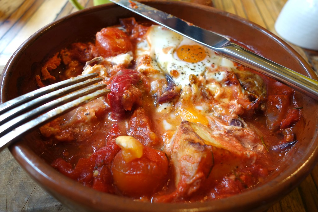 Chorizo Baked Eggs, The Jones Family Project, Shoreditch