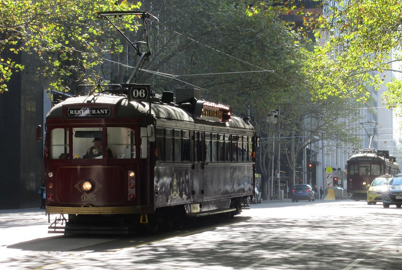 Melbourne restaurant trams