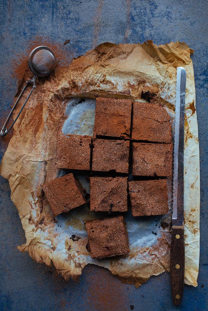 brownies de batata doce com arandos