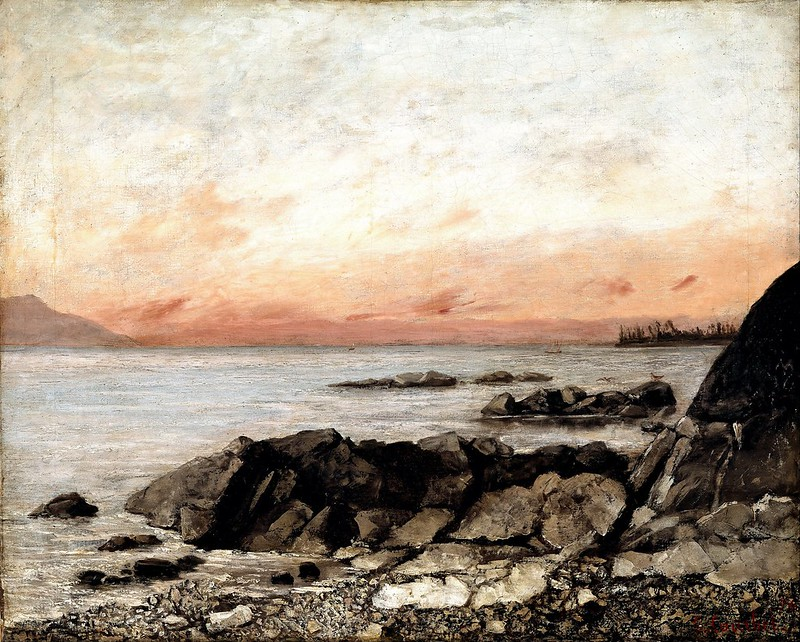 Gustave Courbet - Sunset, Vevey, Switzerland (1874)