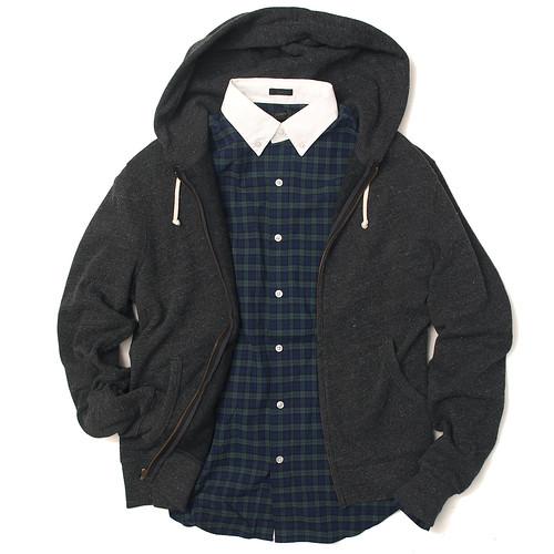 J.Crew / Shirt x Zip Hoodie