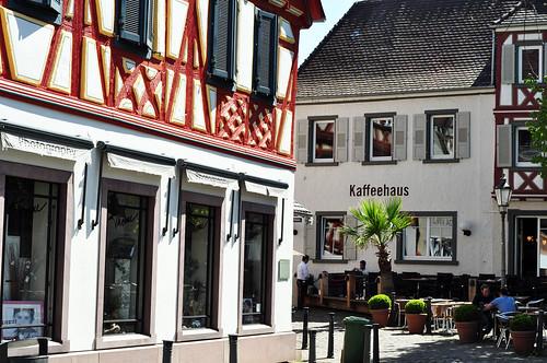 Ladenburg am Neckar - Altstadt mit Fachwerkhäusern