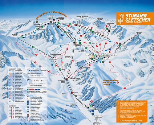 Stubaier Gletscher - mapa sjezdovek