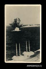 HMAS SYDNEY (II) in a sea battle with an Italian destroyer in November 1940