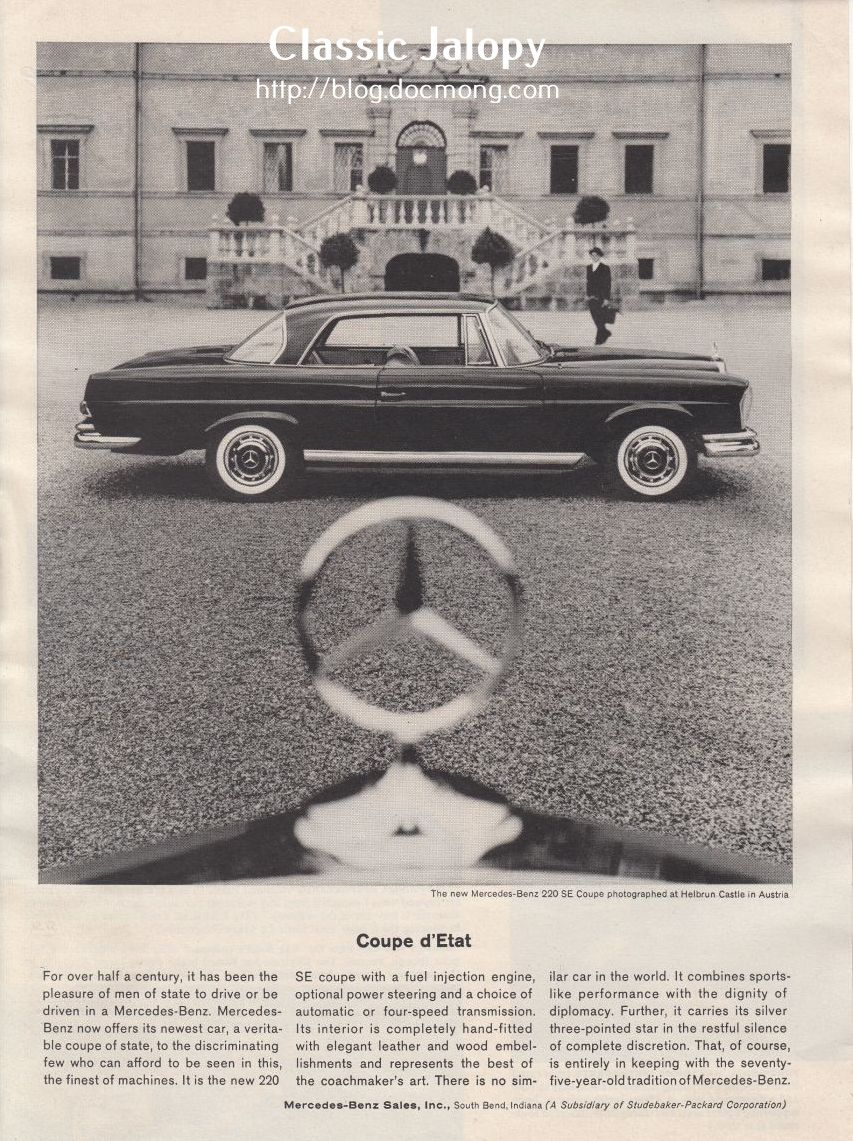 Ad of the week: Coupe d'Etat - Mercedes W111 Coupe