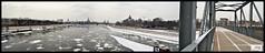 Frozen elbe panoramic