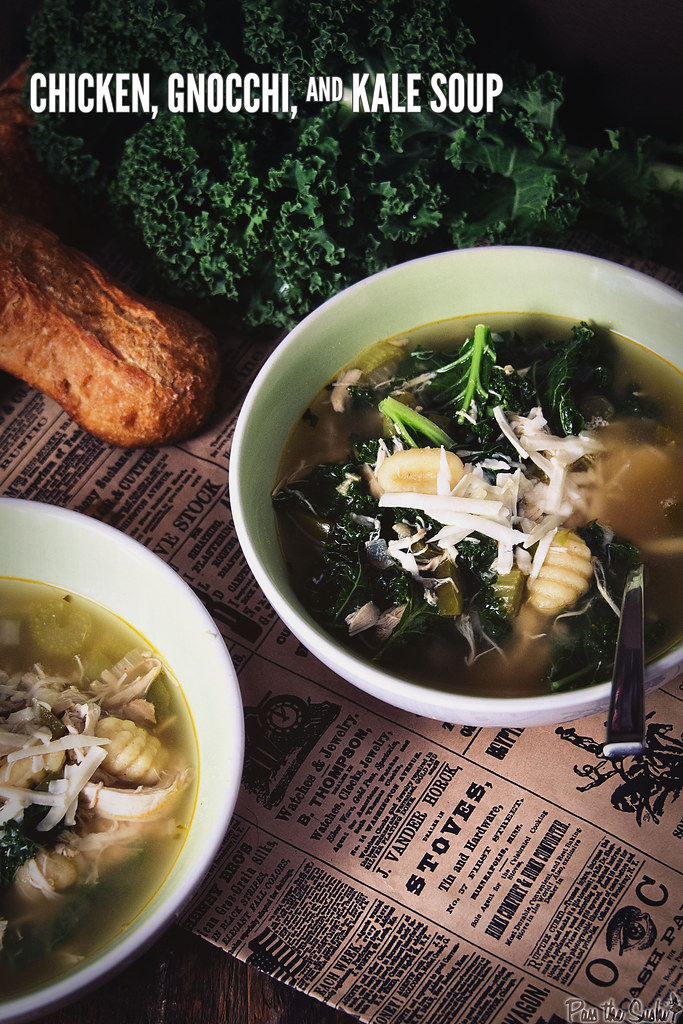 Chicken, Gnocchi and Kale Soup | GirlCarnivore.com