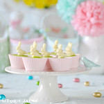 Gluten free raspberry & white chocolate Easter cheesecakes 1
