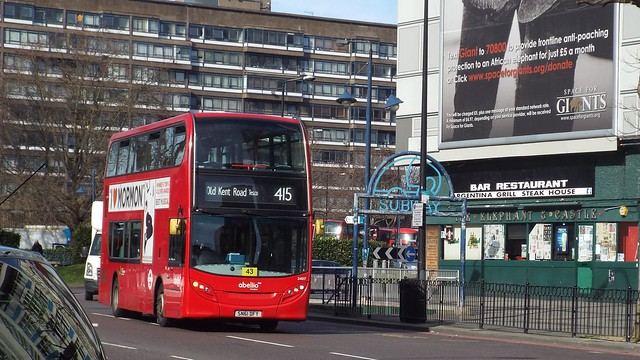 Abellio London 2407, SN61DFY at Elephant & Castle on route 415 to Old Kent Road