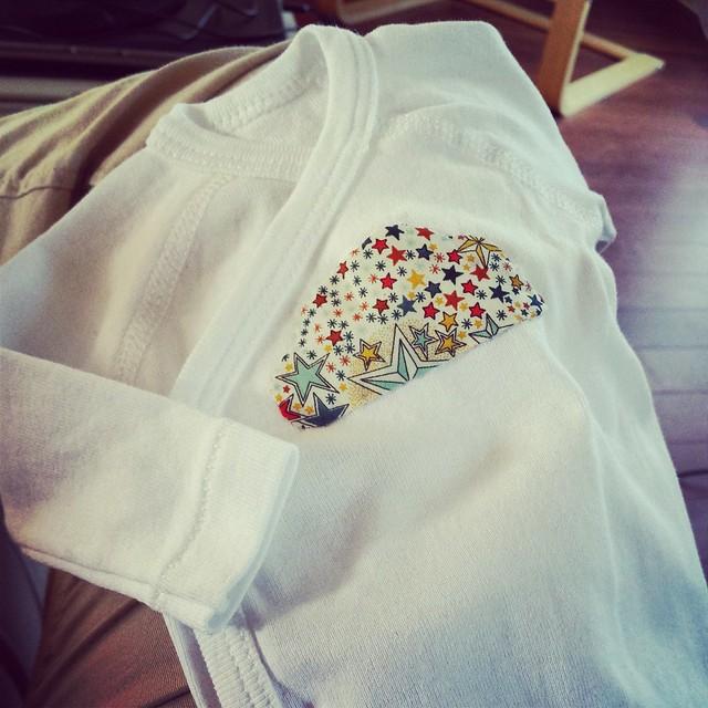 Pyjama de naissance - appliqué nuage