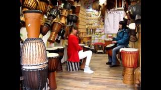 A Drum Shop in Dali