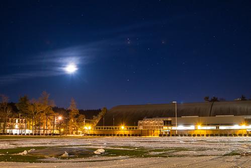 winter night campus dartmouth biondipark redrolfefieldatbiondipark