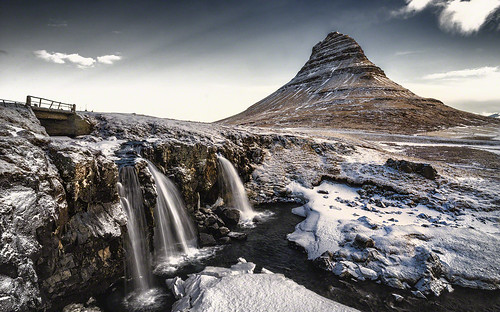 panorama landscape iceland kirkufjell
