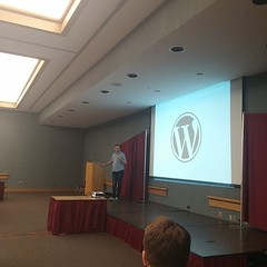 Keynote time at #wcdayton with @jjj!