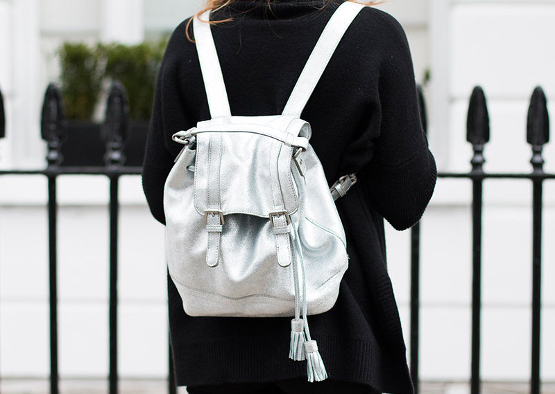 SILVER BACKPACK BODEN