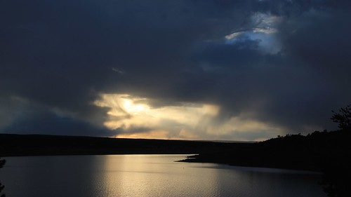 sunset newmexico bluewaterstatepark