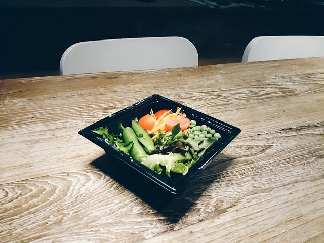 .Salad time.