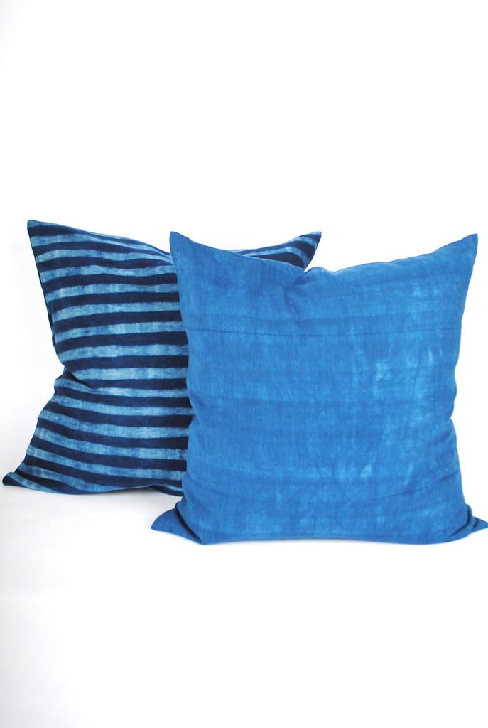 Large Indigo and Tie Dye Pillows
