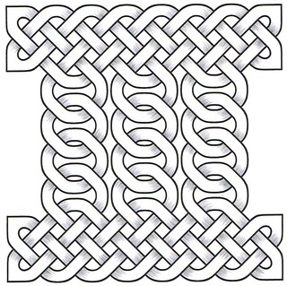 Celtic knot with pencil shading