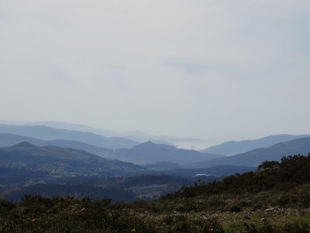 Ría de Vigo desde la Serra do Cando en A Lama