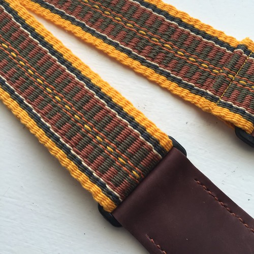 Golden Yellow Border Guitar Strap