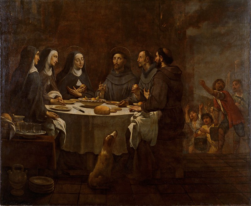 Antoni Viladomat - Saint Francis and Saint Clare at Supper in the Convent of Saint Damian (c.1730)