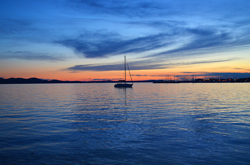 Romantic sunsets, new town, Zadar, Croatia